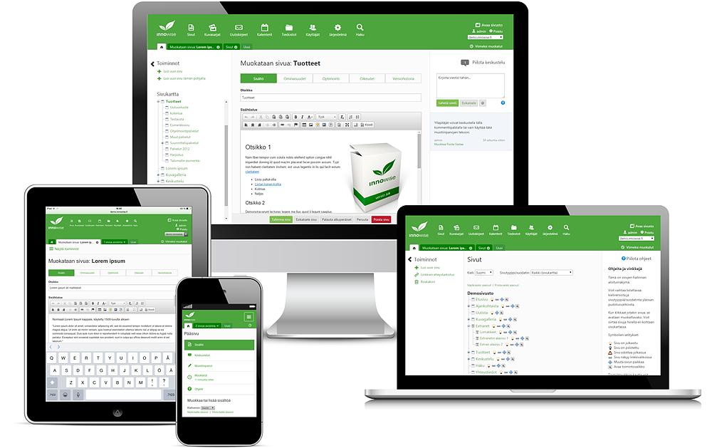 Innowise CMS -julkaisujärjestelmä on joustava työkalu www-sivuston sisällönhallintaan